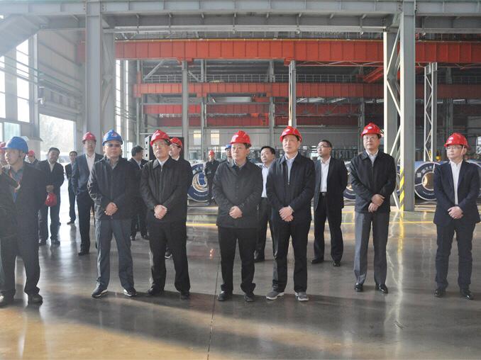 Linyi Municipal Party Committee Secretary Wang Yujun and his entourage visited Shandong Hongwang for investigation