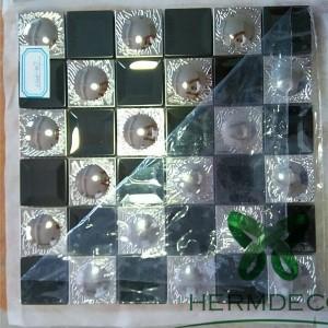 Stainless Steel Mixed Brushed Aluminum Mosaic Strip Metal Mosaic-HM-MS050
