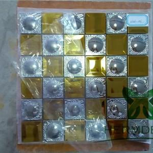 Metal Tile Design Stainless Steel 3D Siliver Rhombus Metal Mosaic Tiles-HM-MS047
