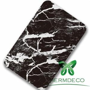 Foshan Lamination Finish 201 304 Black Stone Quality Stainless Steel Sheet-HM-044