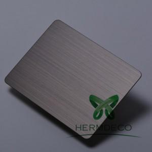 Լավ նոր ապրանքներ Black 304 Stainless Steel Sheet Satin Hairline-HM-HL004