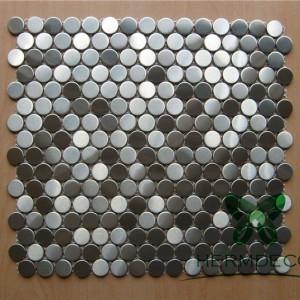 Dur Di-staen Teil 304 hecsagon Metel Mosaic Am Wall Ac Flooring Mosaic-HM-MS026