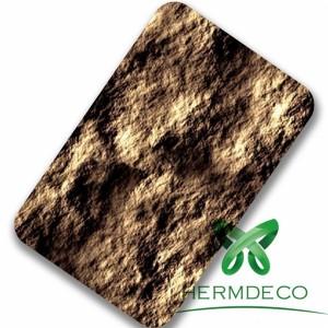 Foshan Lamination Finish 201 304 Stone Quality Stainless Steel Sheet-HM-040