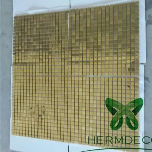 New Design Stainless Steel Blend Small Shells Glass Strip Backsplash Mosaic-HM-MS041