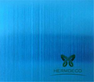 ચાઇના સપ્લાયર કલર બ્લુ હેરલાઇન સ્ટેઈનલેસ સ્ટીલ શીટ્સ-એચએમ-એસબી 6006