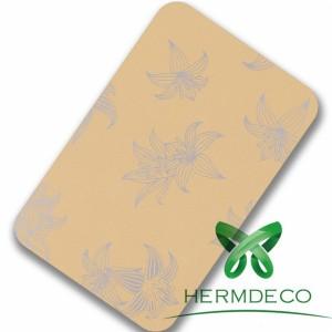 Pattern Yellow Sus304 Laminated Steel Sheet-HM-010
