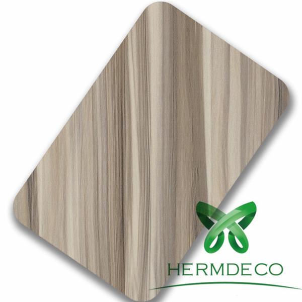Foshan Lamination Finish Wood Quality Stainless Steel Sheet-HM-081