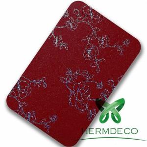 Pattern Red Sus304 Laminated Steel Sheet-HM-009