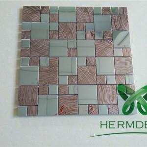 Bathroom Stainless Steel 2 Inch Fish Mosaic Tiles Dubai-HM-MS057
