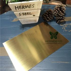 Bona qualitat Full d'acer inoxidable titani PVD Or ratlleta-HM-HL002