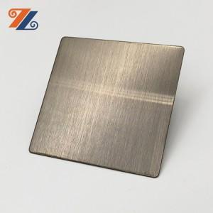 304316 إنهاء خط شعري زخرفي من الفولاذ المقاوم للصدأ 4 × 8 لون ذهبي أسود لتزيين إطار المصعد