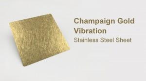Grade 1 Hongwang 201 1.2mm 4×8 vibration pvd coating stainless steel sheet for decorative livingroom wall
