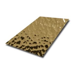 4×10 Hongwang wholesales water ripple 3D design stamped Stainless Steel Sheet for ceiling