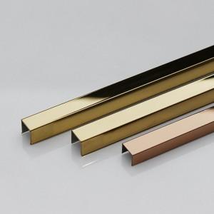 Тапсырылған ені 304 316 баспайтын болаттан жасалған, төбені декорациялауға арналған алтын пішінді айна