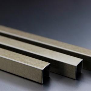 Hongwang Stainless Steel Tile Trim U shape 304 Grade Modern Style Trim Strip Metal Tile Profile For Floor And Edges Decorative