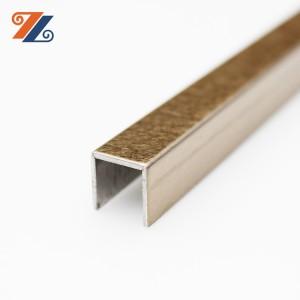 201 304 stainless steel shape U tile trim tile edging strips for ceramic interior decoration