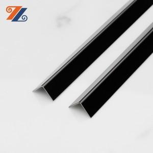 Зауыт 201 304 ені 30 мм ұзындығы 3000 мм вибрациялық жезден баспайтын болаттан жасалған L пішінді еденге арналған әрлеу профильдері