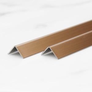 201 304 decorative 90 degree gold brushed steel tile trim 8mm brushed stainless trim