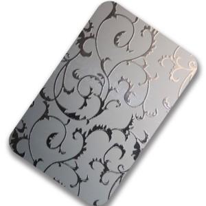 Hongwang 304 grade bronze color mirror/8K/No.8 etching stainless steel sheet for hotel elevator doors