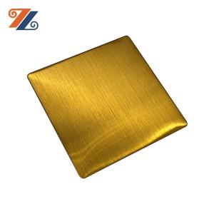 201 304 316 430 Preu de fàbrica decoratiu Revestiment PVD Xapa d'acer inoxidable Línia de cabell Placa d'acer inoxidable