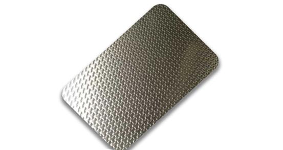 Stainless steel embossed plate