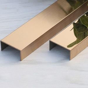 201 304 316 U shape V shape T shape Decorative stainless steel tile edging strip stainless steel wall panel trim