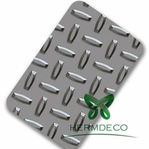 CheckeredAnti-slip plat stainless steel 201 304 304 L-HM-CK015