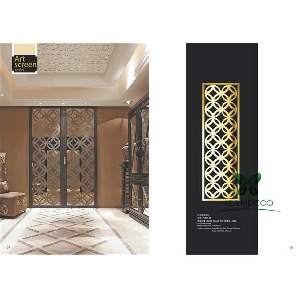 Custom Luxury DesignStainlessSteelFolding ScreenPartition-HM-PT020