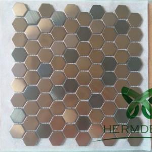 Stainless Steel Figured Brick Metal Mosaic Tile-HM-MS042