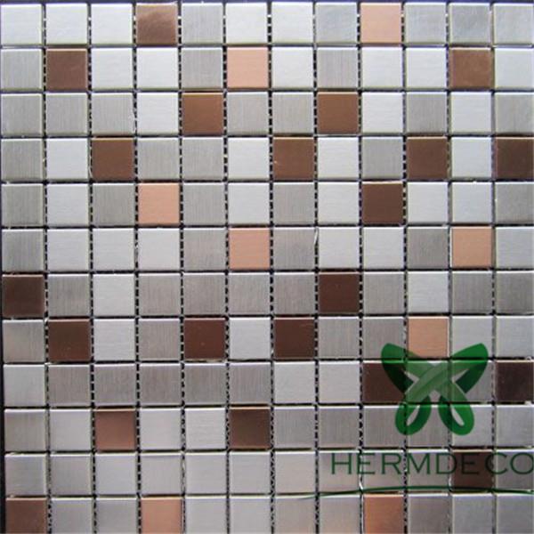 ManufacturerMosaicTileStainlessSteelFor Bathroom-HM-MS019