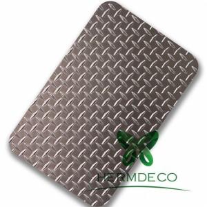 304 Stainless Steel Checkered 3mm Checker Lempeng importir-HM-CK001