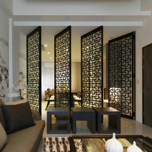 New Design Art Stainless Steel Gold Black Bronze Color Metal Room Welding Divider Partition for Architect Decoration